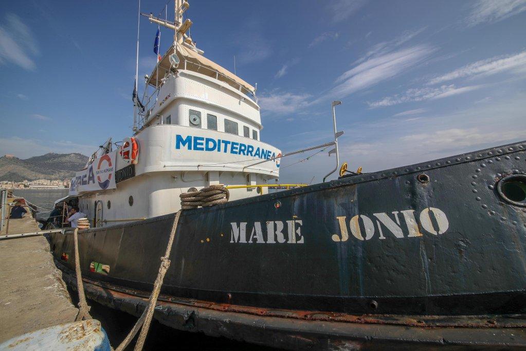 Le Mare Jonio était jeudi au large de la Libye. Crédit : Ansa