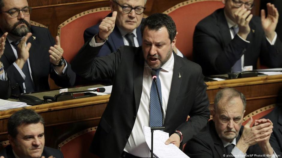 Matteo Salvini in the Italian Senate | Photo: Picture-alliance/AP Photo/A Medichini