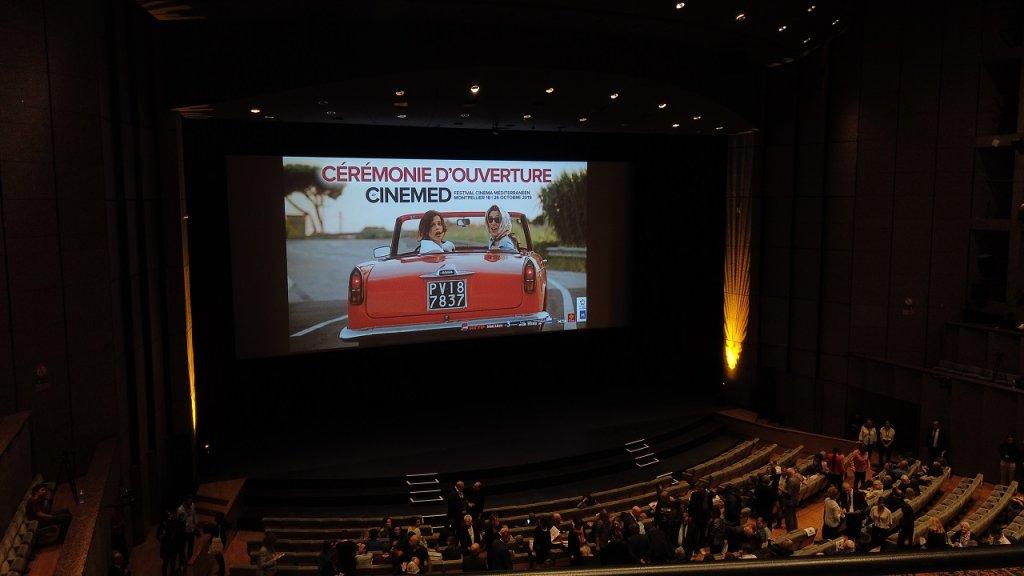 العرض الافتتاحي لمهرجان مونبلييه للسينما المتوسطية. الصورة: دانا البوز
