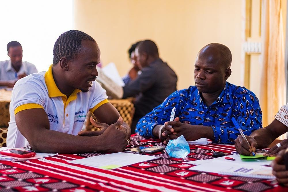 Community leaders participate in an awareness-raising workshop in Burkina Faso. Credit: IOM/Franois-Xavier Ada-Affana