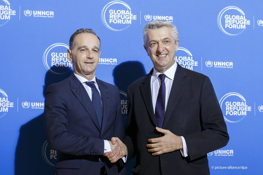 Germany's Foreign Minister Heiko Maas (left) with UN High Commissioner for Refugees, Filippo Grandi at the opening of the Global Refugee Forum on December 17, 2019 in Geneva | Photo: Picture alliance/Salvatore Di Nolfi/KEYSTONE/dpa