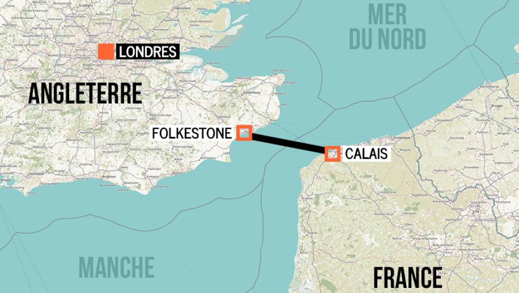 کانال مانش یکی از نزدیک ترین فاصله میان فرانسه و بریتانیا میباشد.