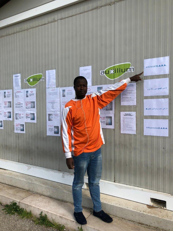 مهاجر في مركز الاستضافة في باري. المصدر: أنسا