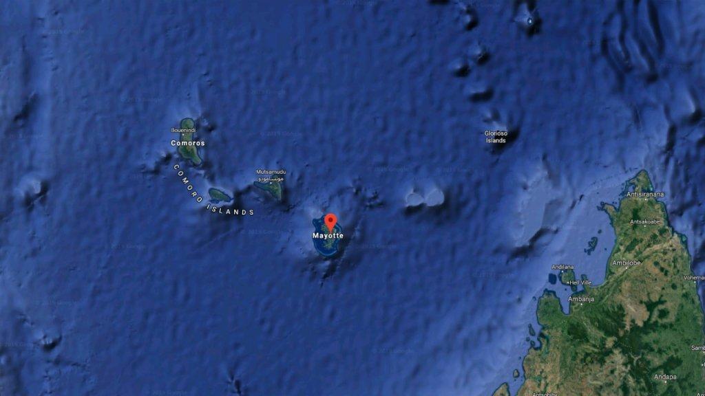 Douze migrants sur les 18 arrivés illégalement à Mayotte fin mai ont été expulsés du territoire. Crédit : google maps