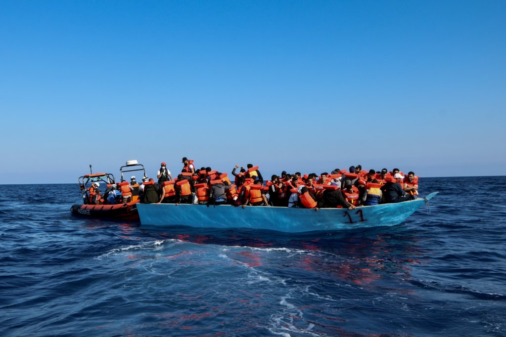 This picture posted by @MSF_Sea on their Twitter page shows a rescue of 97 people from a wooden boat, carried on on June 11, 2021 | Source: Twitter @MSF_Sea