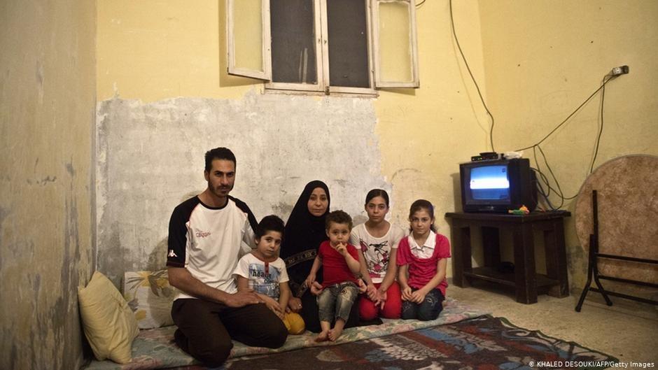 أسرة سورية في مصر