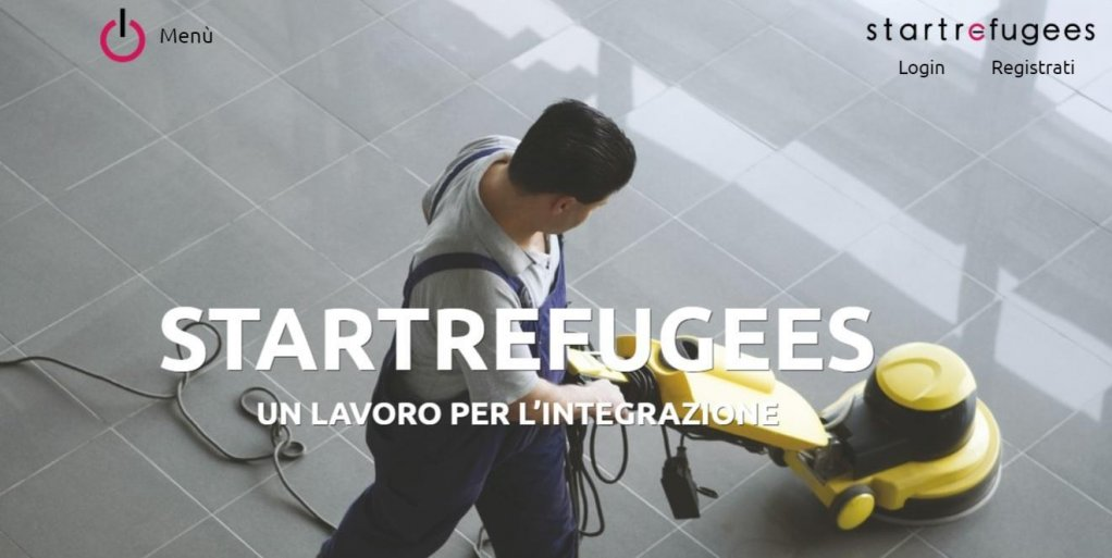 "ansa / صورة من منصة ""start refugees"" على شبكة الإنترنت."