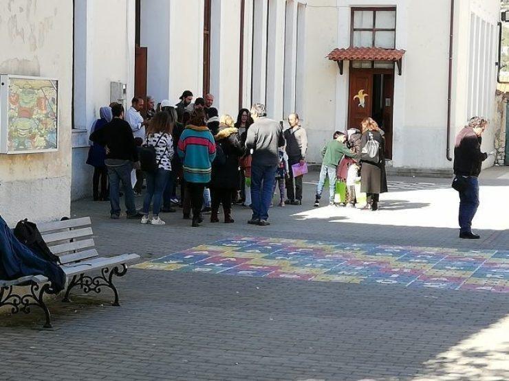 L'école primaire de Vathi, à Samos, en Grèce Crédit : left.gr/ANSA