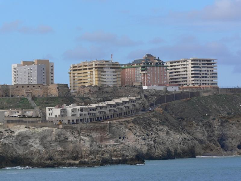 L'enclave de Melilla en Espagne. Crédit : Wikimedia