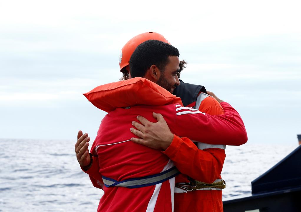 پنج مهاجر آلان کردی روز سه شنبه ١٠ سپتمبر به مالتا رسیدند. عکس از رویترز
