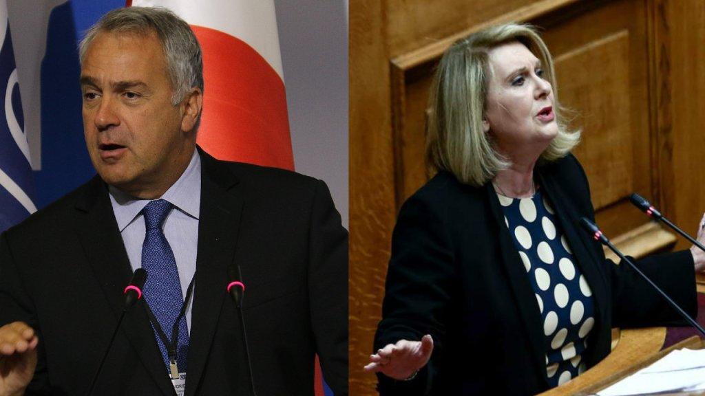 Makis Voridis et Sofia Voultepsi deviennent respectivement ministre de l'Intérieur et ministre adjointe à l'Intégration des réfugiés en Grèce. Crédit : Wikicommons