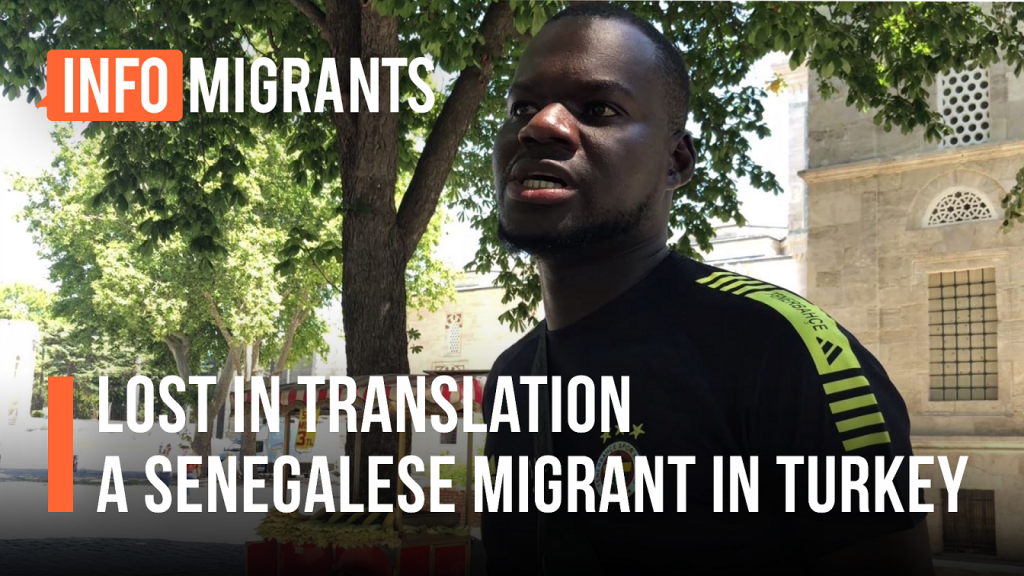 Salmane left Senegal in 2014. He was in search of a better life, not just for himself, but also for his family | Source: Video report InfoMigrants