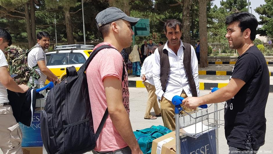 Two men from the group deported to Afghanistan on July 4, 2018, after arriving in Kabul