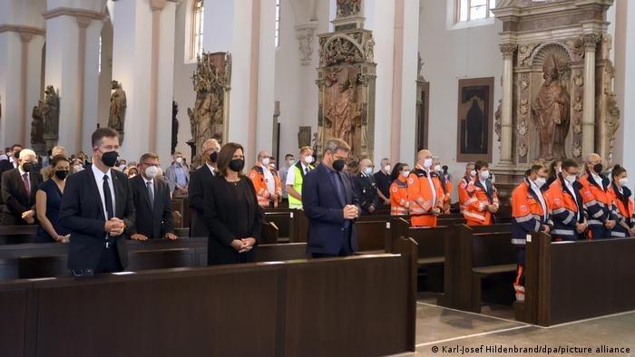 مراسم تأبين الضحايا في كاتدرائية كليان في فورتسبورغ