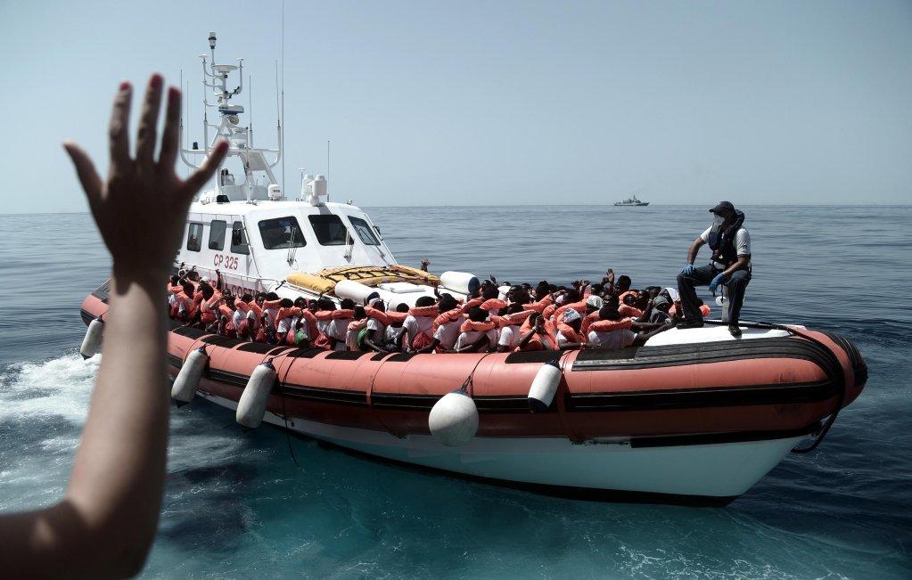From archive: Migrants boarding rescue vessel 'Aquarius' in the Mediterranean | Photo: ARCHIVE/ EPA/KENNY KARPOV