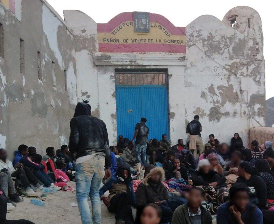 Des migrants ont pénétré lundi 20 septembre 2021 dans une enclave espagnole militaire, appelée Rocher de Vélez de la Gomera, au Maroc. Crédit : DR