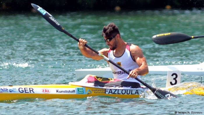 Canoeist Saeid Fazloula from Iran