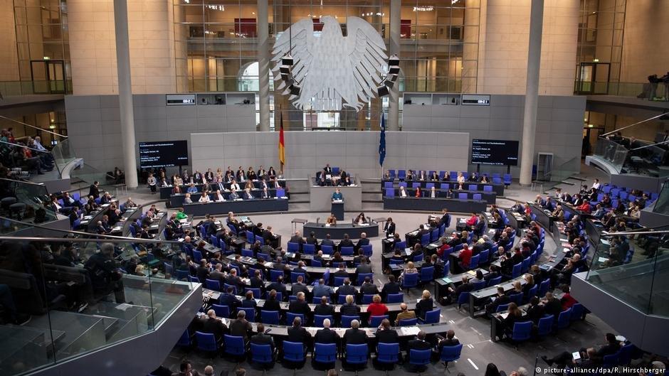 تصویر آرشیف از سخنرانی انگلامرکل صدرعظم آلمان در پارلمان فدرال این کشور