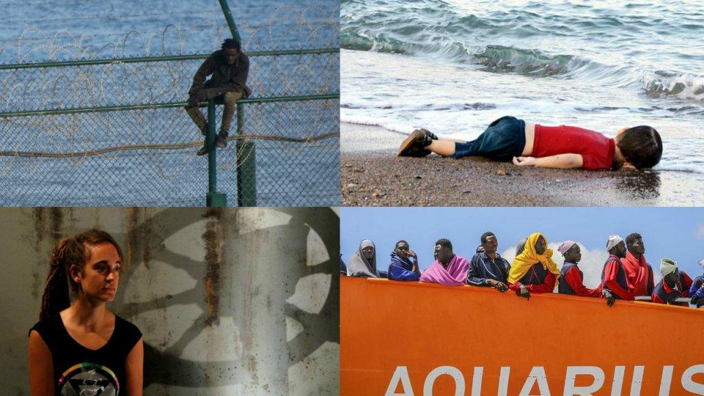 Quelques unes des images qui ont marqué l'actualité migratoire ces 10 dernières années.