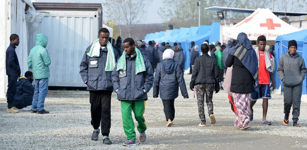 'Fenoglio' Multifunctional Red Cross Centre for asylum seekers and migrant reception in Settimo Torinese   Credit: ANSA
