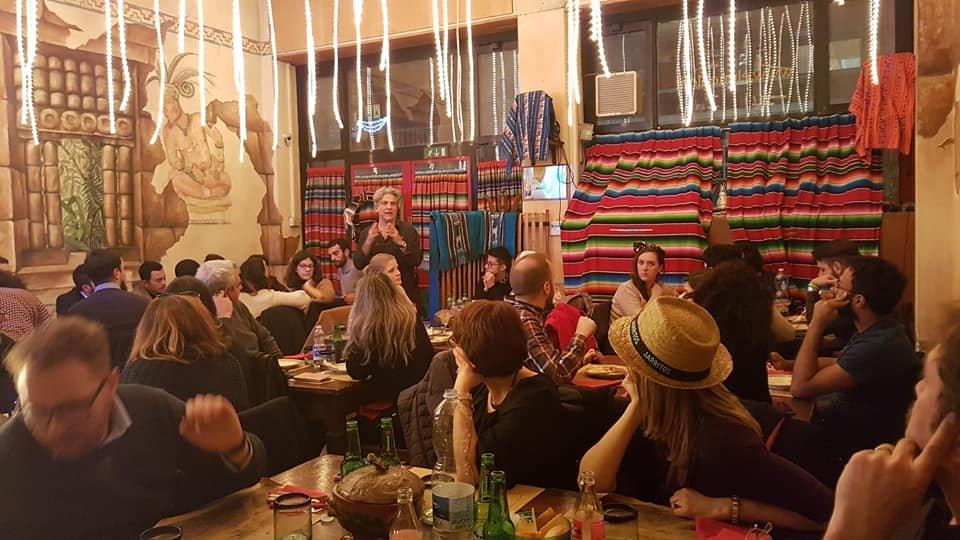 Eating in the Gustamundo restaurant before the shutdown   Photo: With kind permission of Gustamundo