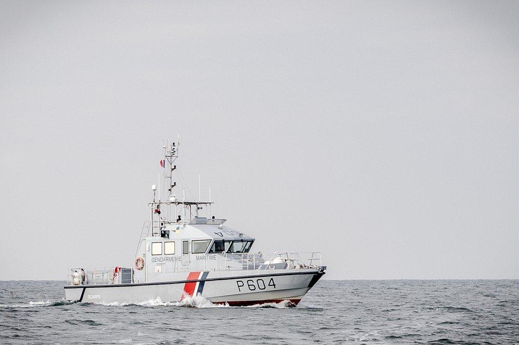 Image d'archives d'une opération de surveillance dans la Manche par un bateau de la gendarmerie. Crédit : Préfecture maritime de la Manche et de la Mer du Nord