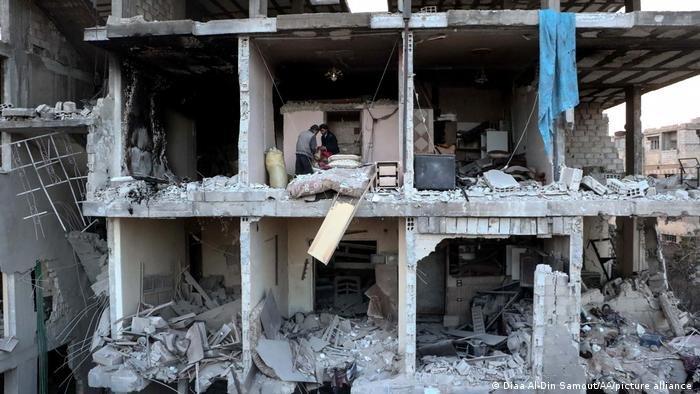 صورة من الأرشيف لمستشفى عربين في الغوطة الشرقية