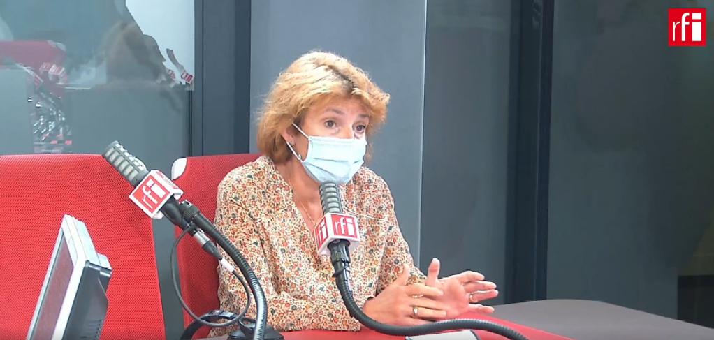 Fabienne Lassalle, directrice adjointe de l'ONGSOS Méditerranée. Crédit : RFI