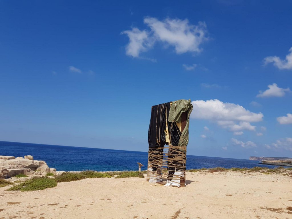 """""""The Gateway to Europe"""" is a monument dedicated to migrants in Lampedusa 