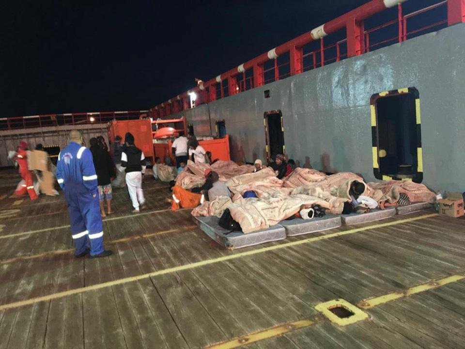 "75 migrants onboard the ""Maridive 601"" are waiting to disembark in Tunisia 