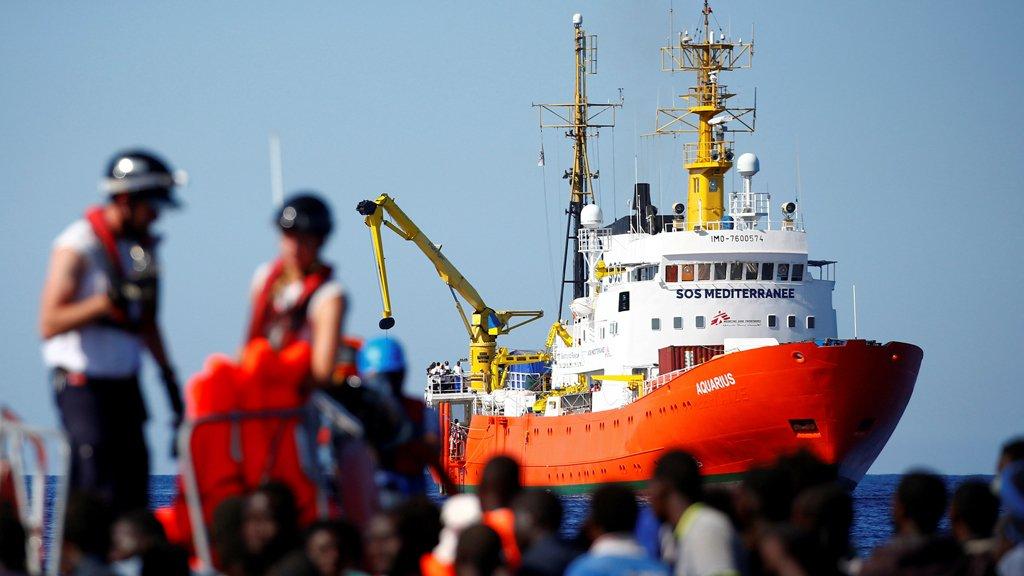 سفينة أكواريوس. أرشيف/رويترز