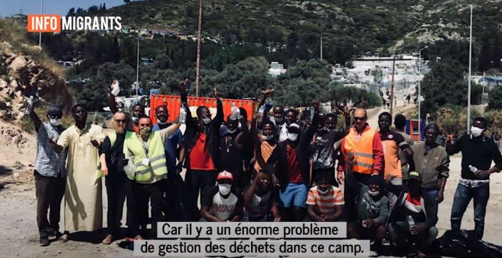 L'ONG Just Action Samos fait le pont entre migrants et habitants. Crédit : capture d'écran InfoMigrants