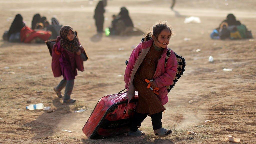 ( رويترز: 05/03/2019 ) |أطفال نازحون، الباغوز، دير الزور، سوريا