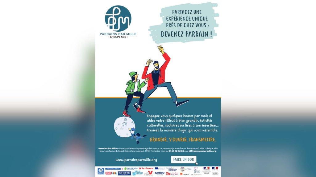 parrainsparmille.org |Campagne d'afichage de l'association Parrains par mille.
