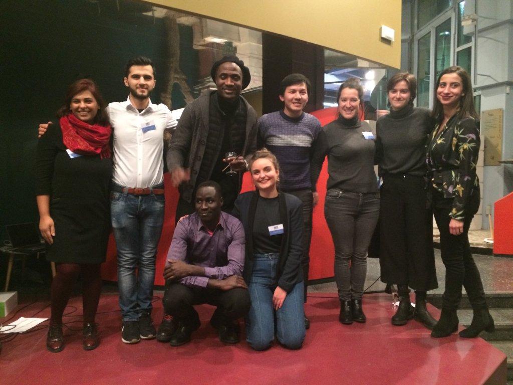 La rédaction de Guiti News lors de la soirée de lancement le 22 janvier 2019. Crédit : RFI / Camille Sarazin
