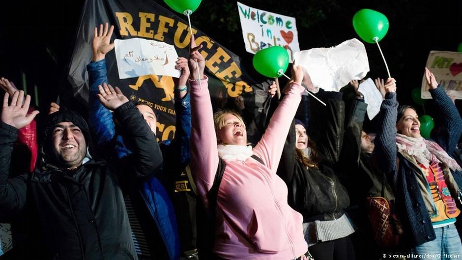 Certains Allemands ont accueilli les réfugiés à bras ouverts
