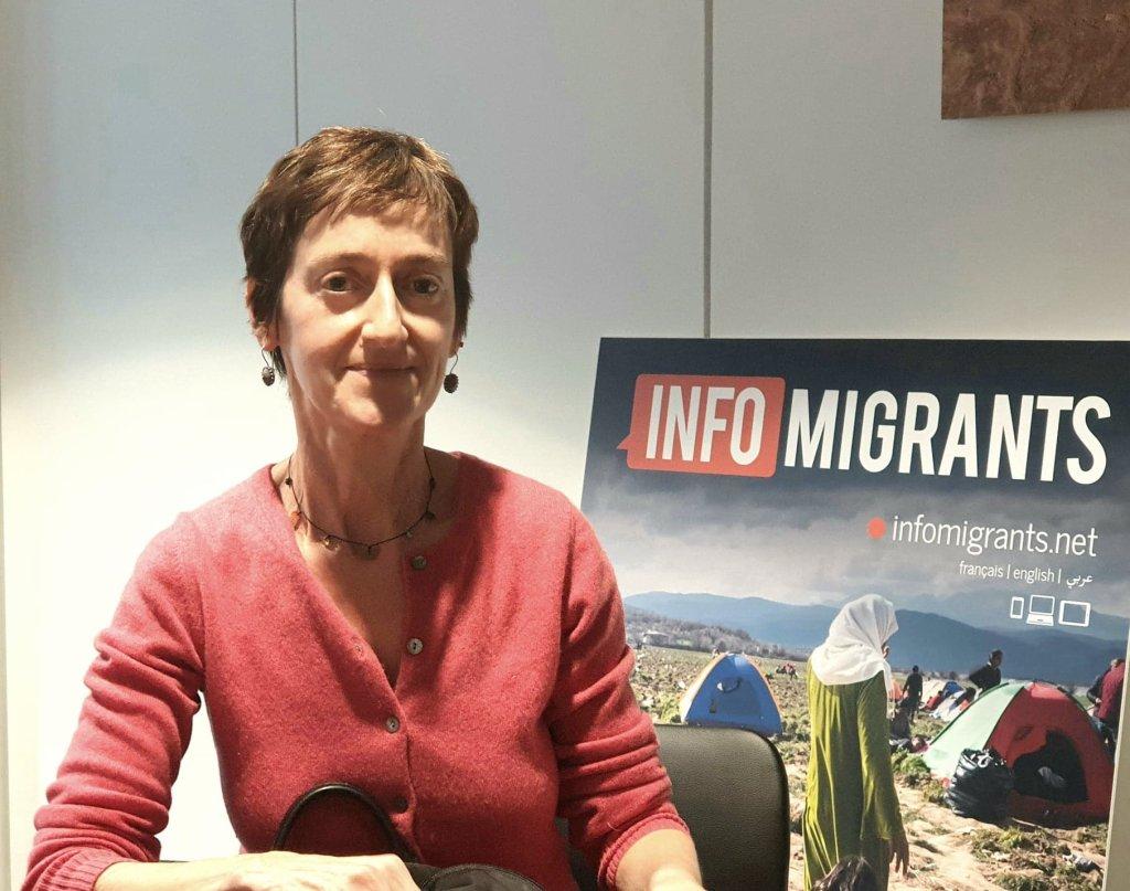 كارولين غلوك المتحدثة باسم مفوضية اللاجئين في ليبيا. الصورة: مهاجرنيوز