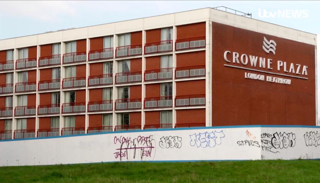 فنادق تستقبل طالبي لجوء في بريطانيا| Source: Screenshot ITV News