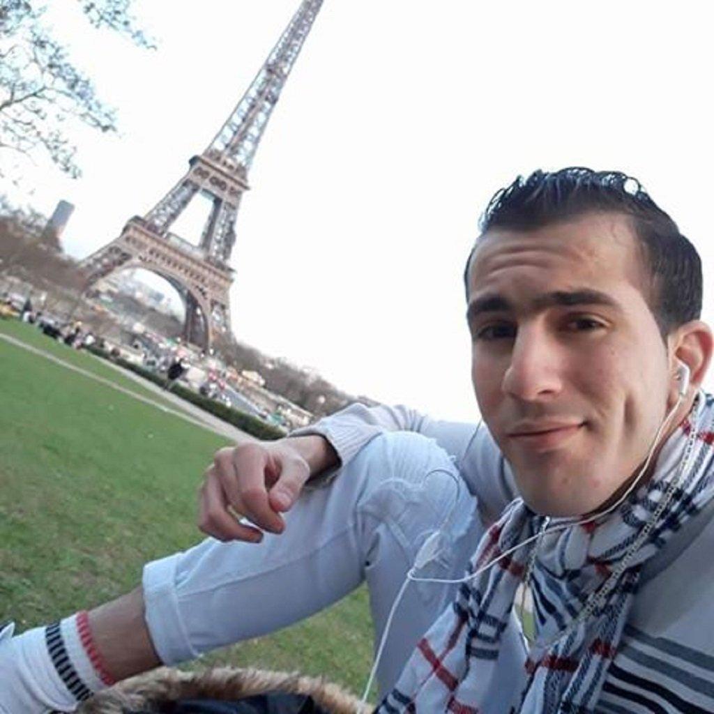 رضوان، لاجئ ليبي في فرنسا، تعرض للخطف والتعذيب في ليبيا. الصورة أرسلها لنا رضوان