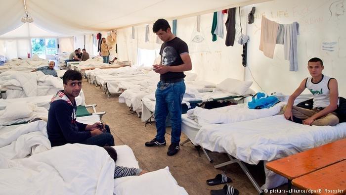 یکی از اردوگاه های پناهجویان در آلمان