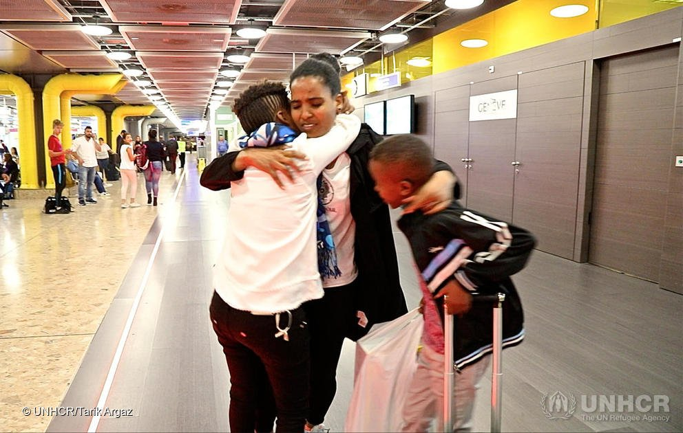 Switzerland: Eritrean kids are reunited with their mother in Europe after eight years of separation | Source: Screenshot UNHCR /Tarik Argaz