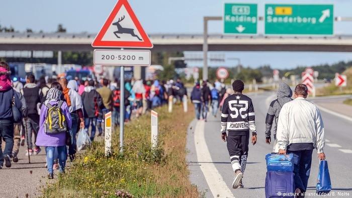 Refugees in Kliplev, Denmark (credit: picture alliance/dpa/B. Nolte)