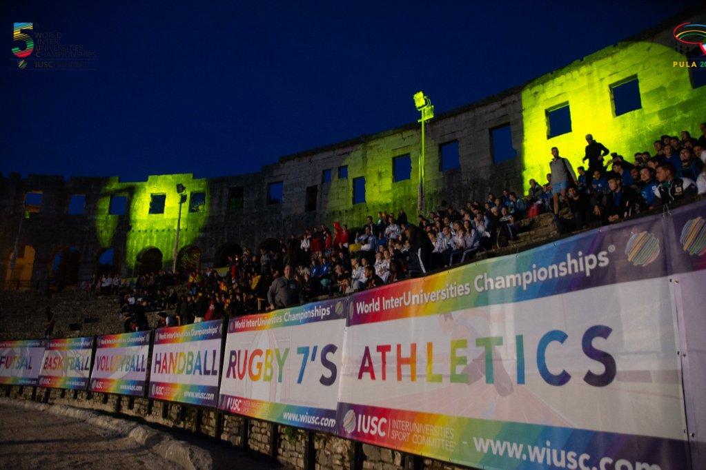افتتاح دورة الألعاب الرياضية في كرواتيا الذي شارك بها الشابين النيجيريين. الصورة: الصفحة الرسمية للمسابقة على فيسبوك