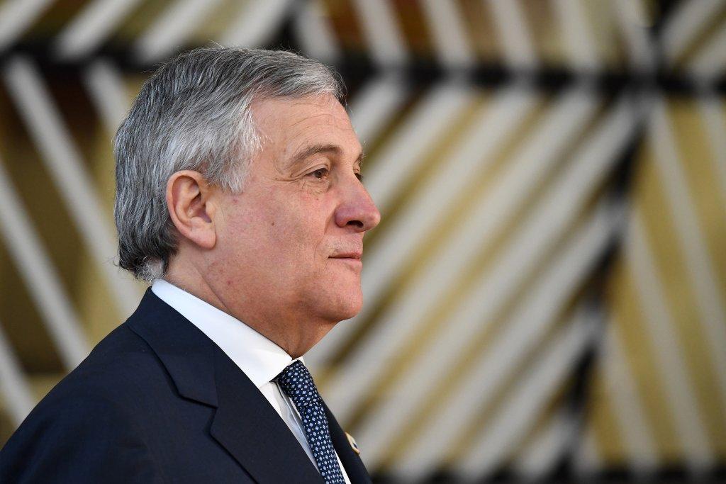 AFP/Aris Oikonomou |Le président du Parlement européen, l'Italien Antonio Tajani.
