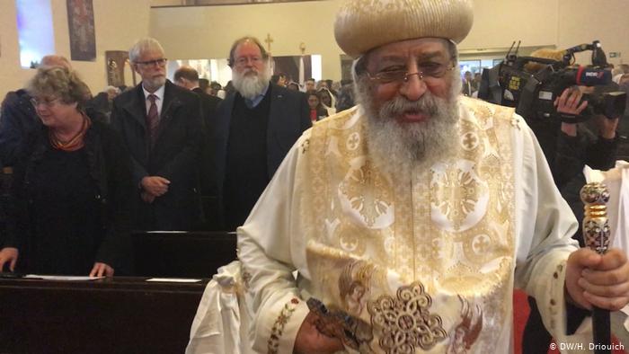 أثناء زيارة البابا تواضروس إلى ألمانيا لافتتاح كنيسة للأقباط