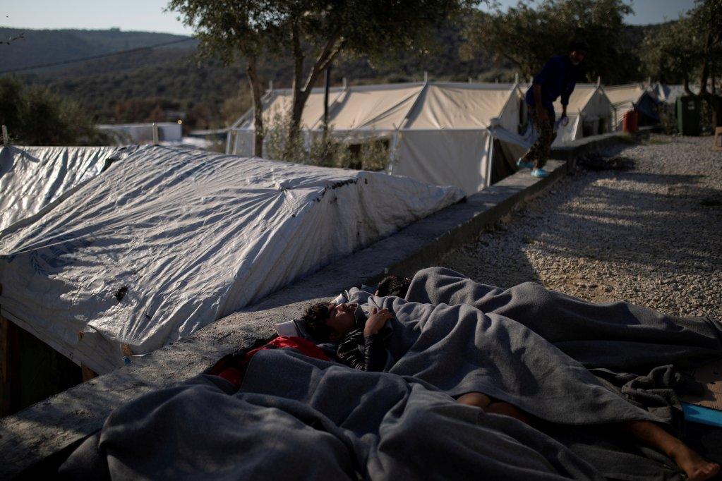 یونان، لېسبوس، د سپټمبر  لومړۍ نېټه. کرېډېټ: رویترز/الکیس کونستانتینیدیس