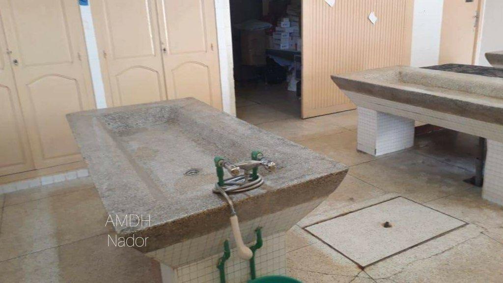 À la morgue de Nador, 40 corps sont toujours en attente d'identification depuis l'an dernier. Crédit : AMDH Nador