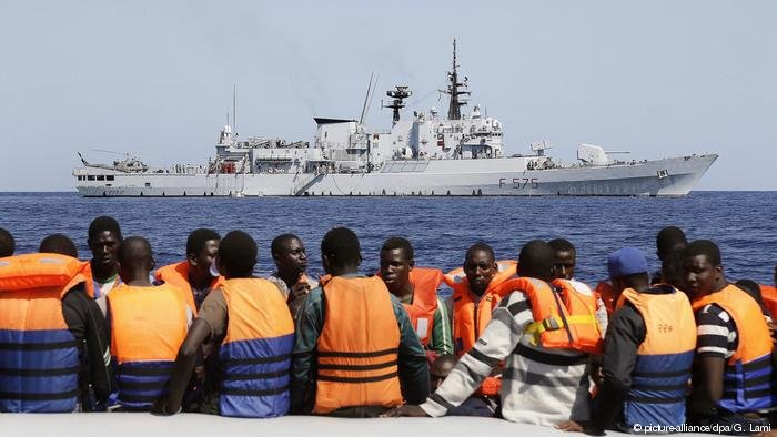 European mission Sophia has been rescuing fewer and fewer migrants