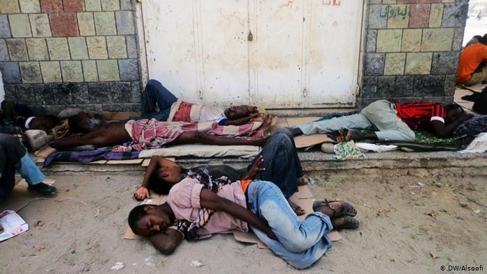 DW/Alsoofi |مهاجرون أفارقة في اليمن (ارشيف)