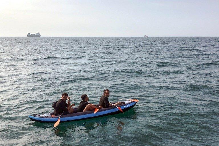 عکس آرشیف: مهاجران در حال عبور از کانال مانش، اگست ٢٠١٨. عکس از ا.ف.پ/ اس.ت.ار